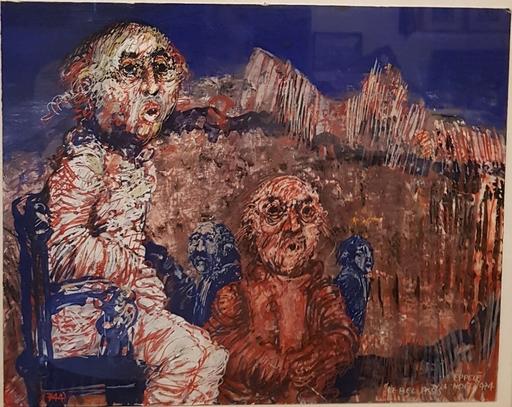 Gérard EPPELE - Disegno Acquarello - Le bel Assis