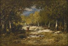 Narcisse Virgile DIAZ DE LA PEÑA - Pintura - Wood Gatherer (Fagotière)