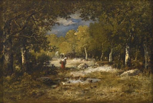 Narcisse Virgile DIAZ DE LA PEÑA - Painting - Wood Gatherer (Fagotière)