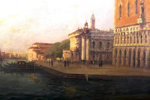 Eloi Noël BOUVARD - Pintura - Abendstimmung in Venedig,Venice,