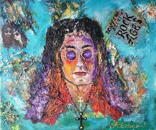 Romeo DOBROTA - Painting - Ozzy ... in relax ...  acrylic on canvas 51x61 cm, SKU  1116
