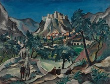 Franz HECKENDORF - Painting - Landschaft in Dalmatien