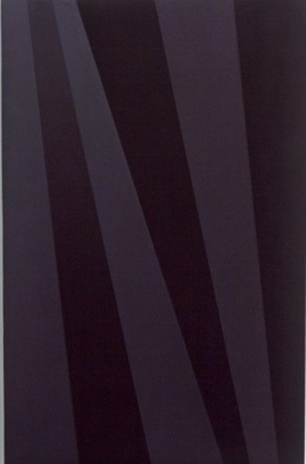 Wolfram ULLRICH - Peinture - O.T. (swarz / violett)