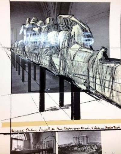 CHRISTO - Print-Multiple - Project for DerGlypotek-Munchen, West Germany, Aegina Temple