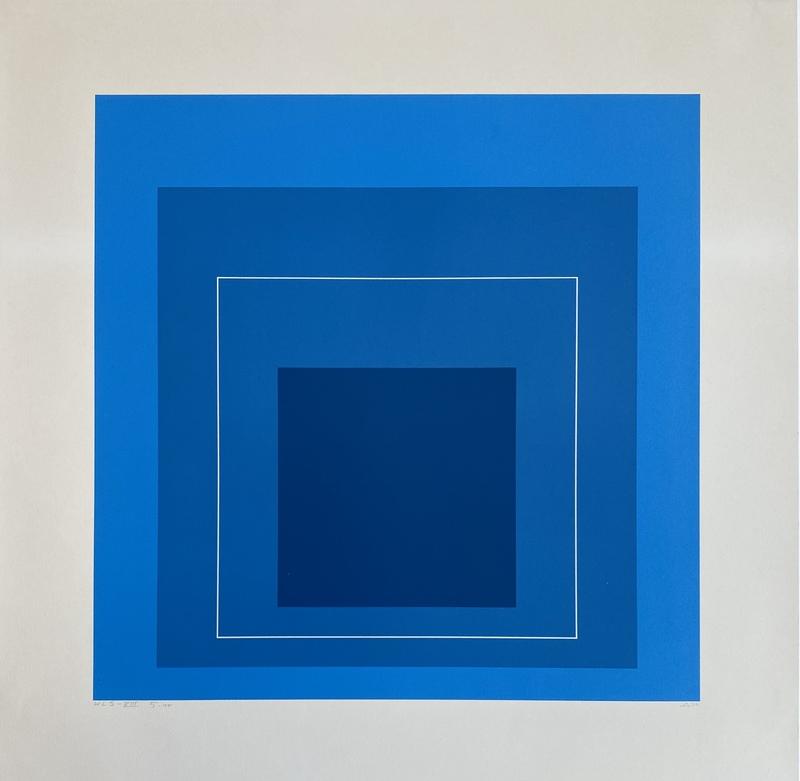 Josef ALBERS - Druckgrafik-Multiple - White Line Squares (Series II), 172.5