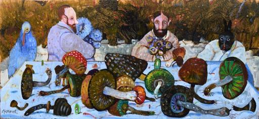 Antonio POSSENTI - Pintura - Qualche fungo