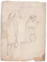 Salvador DALI - Drawing-Watercolor - Es Doll