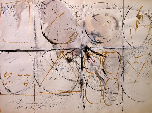 Hans STAUDACHER - Disegno Acquarello - Feminines