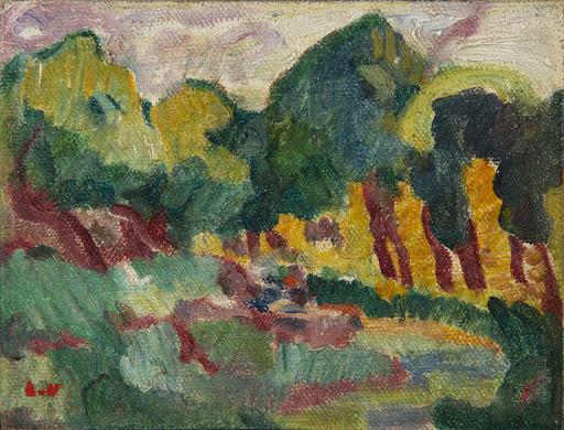 Louis VALTAT - Peinture - Le Ruisseau