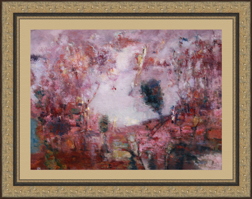Levan URUSHADZE - Painting - Landscape at the lake