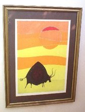 "Llewellyn DECARLO (1925-1981) - ""Bull in the Sun"""