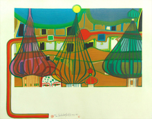 Friedensreich HUNDERTWASSER - Estampe-Multiple - The Expulsion | L'expulsion