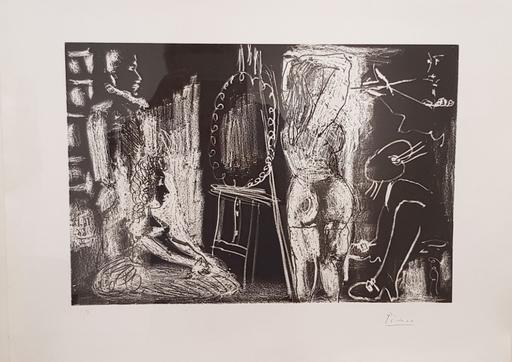 巴勃罗•毕加索 - 版画 - Dans l'atelier