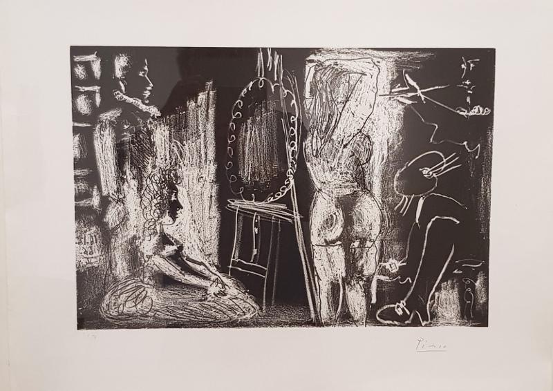 Pablo PICASSO - Print-Multiple - Dans l'atelier