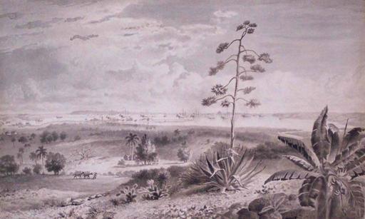 Esteban CHARTRAND - Drawing-Watercolor - Vista De La Bahia de La Habana