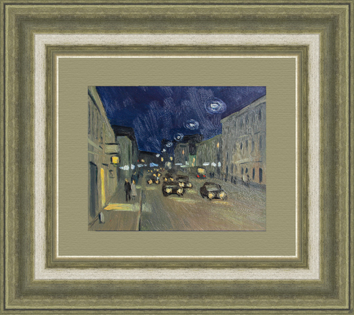 Valeriy NESTEROV - Gemälde - Night Sretenka street. Moscow