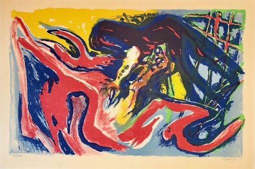 Édouard PIGNON - Print-Multiple - Grand combat de coqs