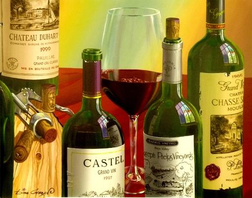 Dima GORBAN - Gemälde - Wine bottles