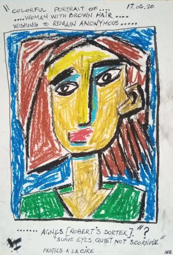 Harry BARTLETT FENNEY - Drawing-Watercolor - suave eyes quiet not scornful (2)