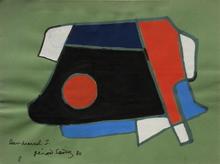 """Gérard SANDOZ - Drawing-Watercolor - Composition """"projet de bijou"""""""