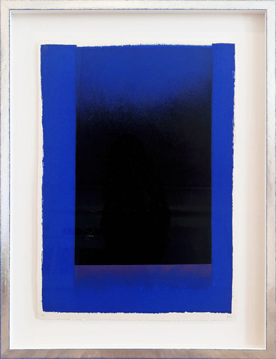 Rupprecht GEIGER - Grabado -  Passage (Komposition in Schwarz und Blau)