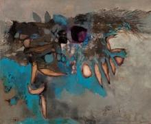 Yasse TABUCHI - Painting - La branche sur l'étang