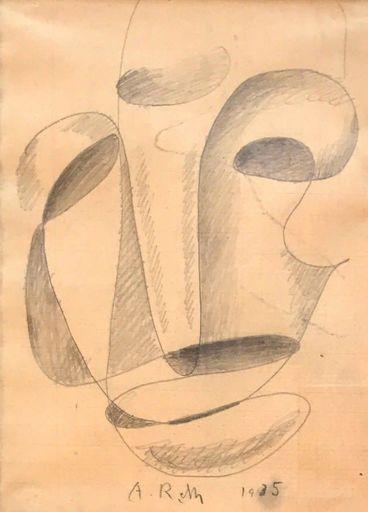Alfred RETH - Dessin-Aquarelle - Portrait, 1935