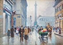 Édouard CORTES - Painting - Rue de la Paix, Place Vendome