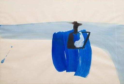 Pierre MONTANT - Drawing-Watercolor - Fisherman in blue