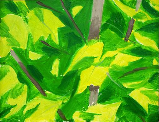 Alex KATZ - Peinture - Foliage