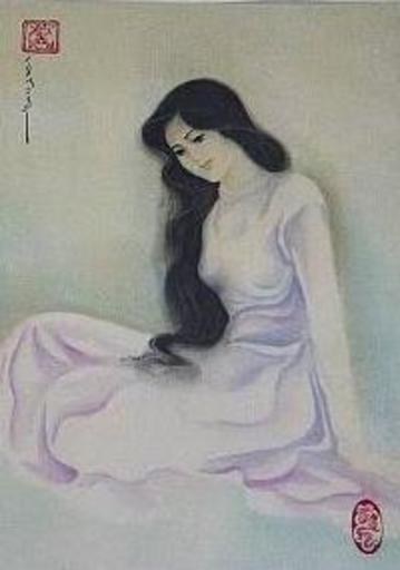 Mai LONG - Painting - Beautiful girl, Long 02