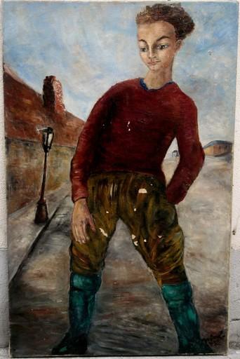 Henri D'AMFREVILLE - Painting - JEUNE GAVROCHE