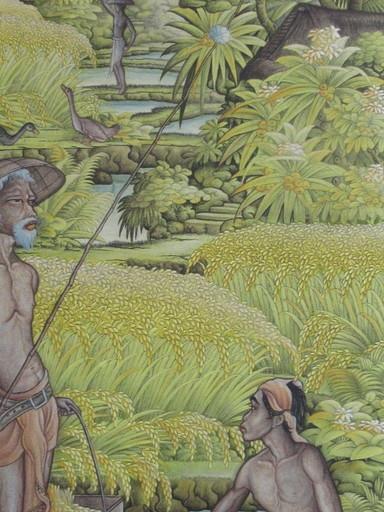 I Wayan SADIA - Painting - La récolte du riz