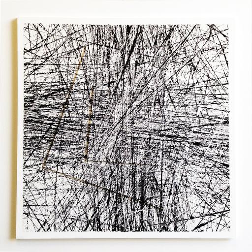 Michel BISBARD - Peinture - Dripping noir