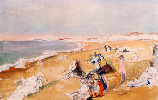 Jacques-Émile BLANCHE - Peinture - La plage de Dieppe, 1931