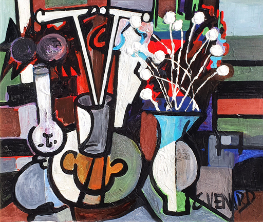 Claude VENARD - Pittura - Abstract Still Life