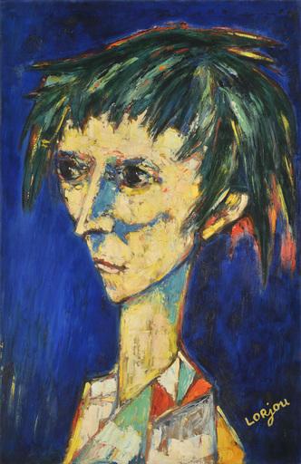 Bernard LORJOU - Gemälde - Tete de Fol