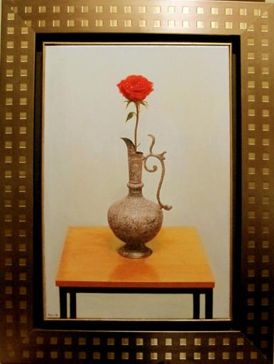 Hovik KOCHINIAN - Pittura - Rose In Oriental Vase
