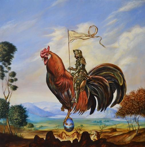 Carlos SABLÓN - Peinture - Le Gardien