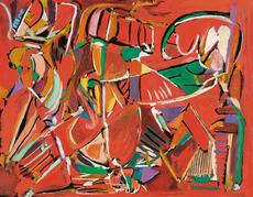 André LANSKOY - Dibujo Acuarela - Composition