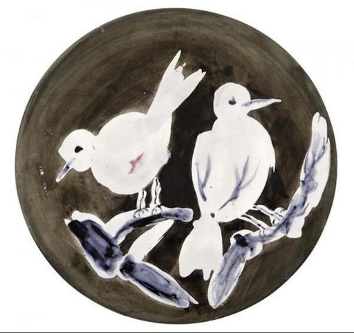 Pablo PICASSO - Cerámica - Two birds n°95 (A.R.487)