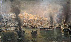 Eugen ZARDETTI - 绘画 - Nave Africa in porto