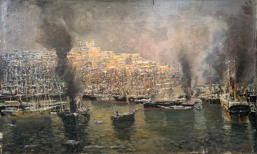 Eugen ZARDETTI - Gemälde - Nave Africa in porto