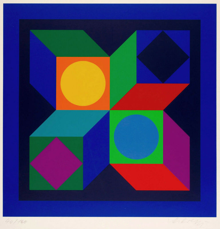 Victor VASARELY - Druckgrafik-Multiple - Untitled