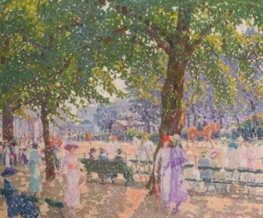 Alfons PROOST - Pintura - Rotten Row (Hyde Park) London