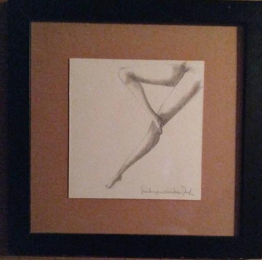 "Frédérique LOMBARD MOREL - Drawing-Watercolor - "" 3 DANCING LEGS """