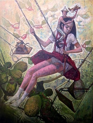 Victor HUERTA BATISTA - Pintura - La Nina