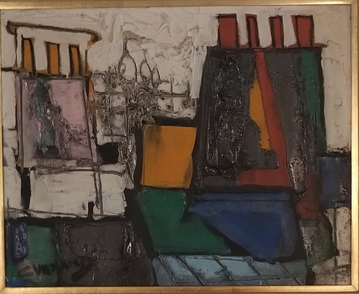 Claude VENARD - Painting - Les Cheminees des Paris
