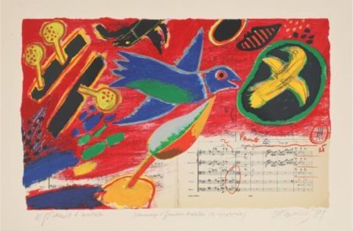CORNEILLE - Grabado - Hommage à Gustave Mahler