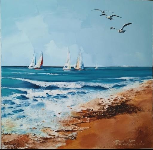 Svitlana LOGUINOFF GRYSHKO - Gemälde - The regatta